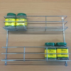 2 Tier Spice Rack - Chrome