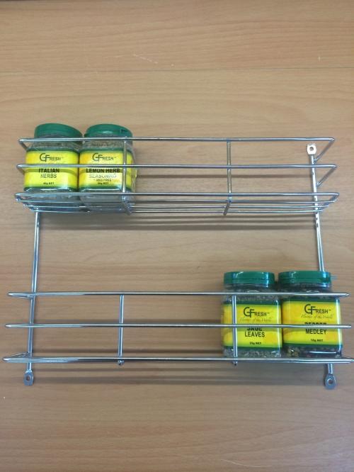 2 Tier Spice Rack - Chrome