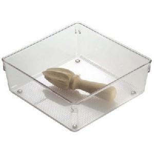 76mm h x 203mm square - Modular Drawer Organiser - Acrylic
