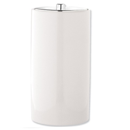 Ceramic toilet roll holder white a15 organise at the for White ceramic bathroom bin