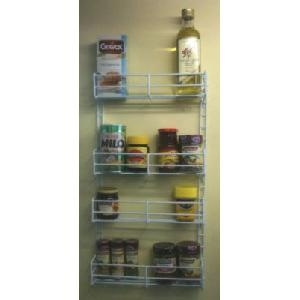 Adjustable Spice Rack   White Plastic Coated
