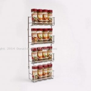 Chrome 4 Tier Spice Rack - Small