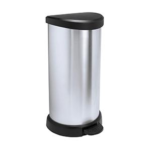 Curver Round Bin 40L Silver