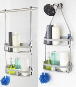 Flex Shower Caddy - Grey (A918) - Organise at The Storage Shop