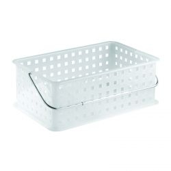 Large Stackable Basket with Chrome Handle
