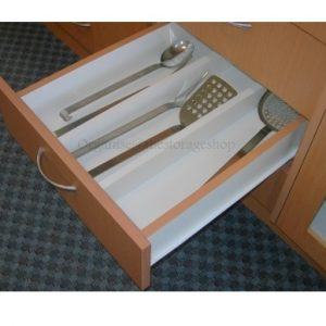 Kitchen drawers drawer organisers drawer inserts twin for In drawer knife mat