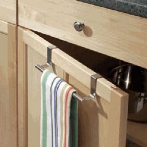 Over Door Tea Towel Rail - Brushed