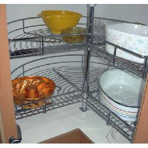Rotating Shelves - Chrome - Large - 2 level