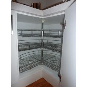 Rotating Shelves - Chrome - Large - 3 level