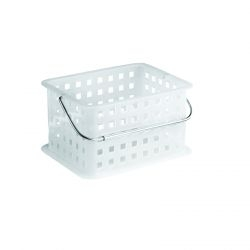 Small Stackable Basket with Chrome Handle