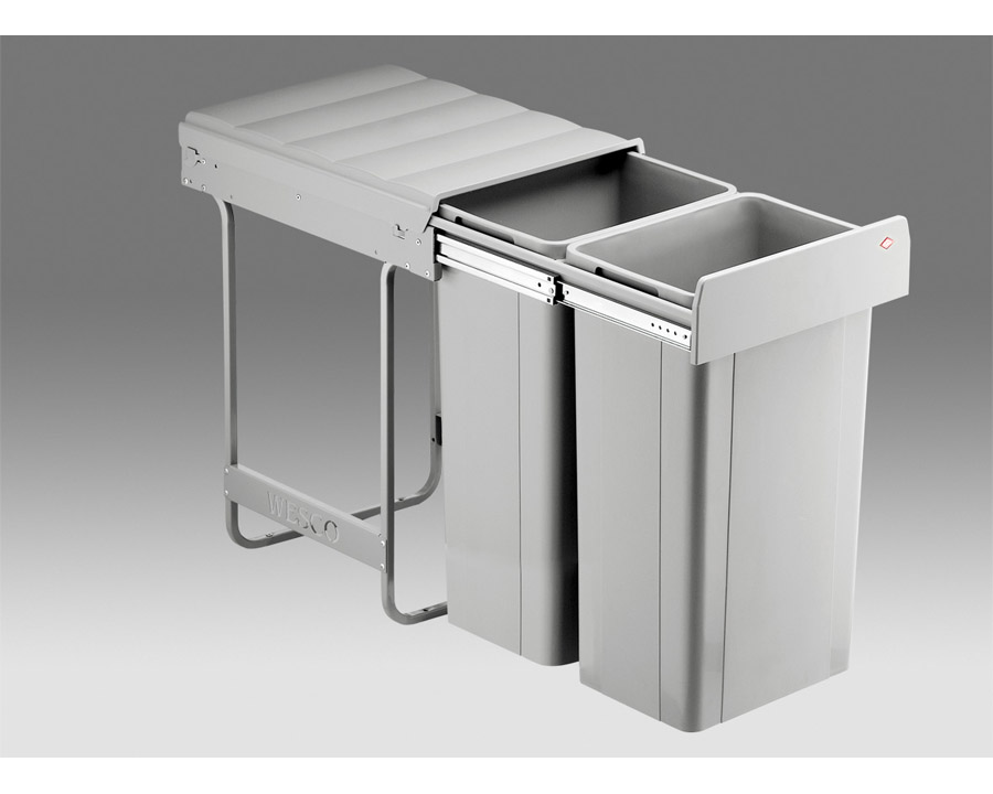 Wesco 64 Litre Double Kitchen Bin W64 Organise At The