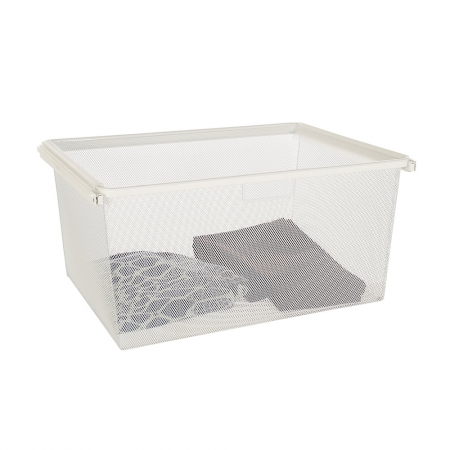 Gliding Baskets 595mm W X 430mm D White Organise At