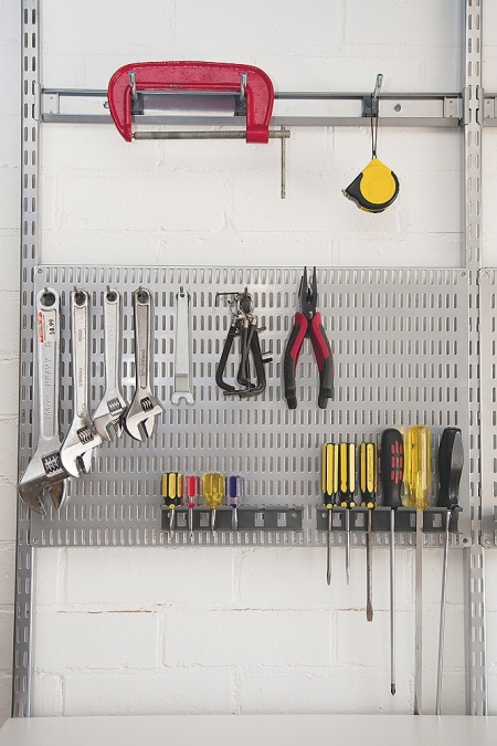Elfa utility peg board organise at the storage shop for Online shelf design tool