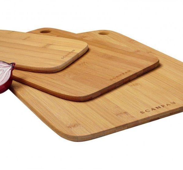 Scanpan Bamboo Cutting Board 3 Piece Set Sh191 Organise At The